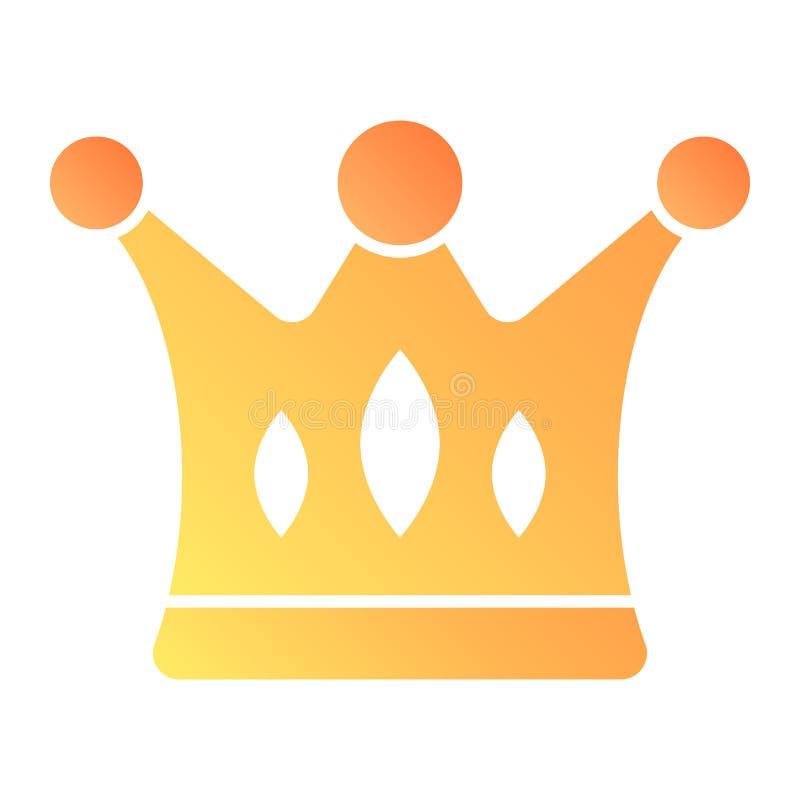 Icono plano de la corona Iconos del color de los derechos en estilo plano de moda Diseño majestuoso del estilo de la pendiente, d libre illustration
