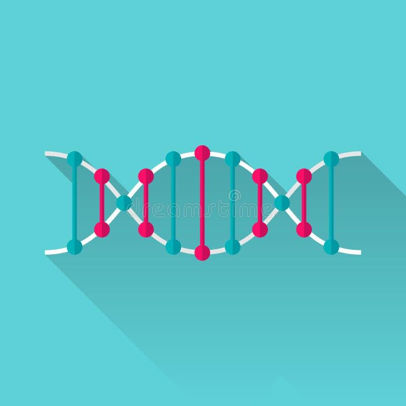 Icono plano de la DNA ilustración del vector