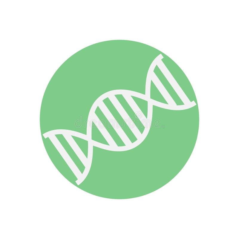 Icono plano de la DNA E stock de ilustración