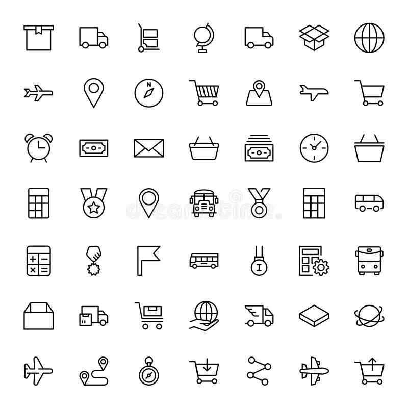 Icono plano de la entrega stock de ilustración