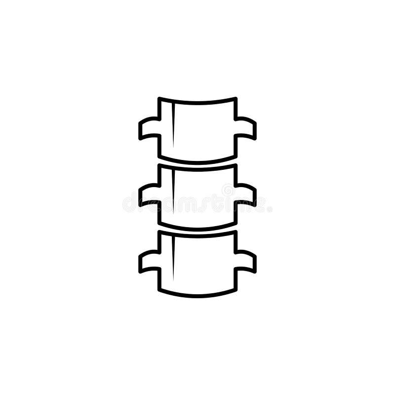 Icono plano de la espina dorsal Escoja el símbolo de alta calidad del esquema del cuerpo humano para el diseño web o el app móvil libre illustration