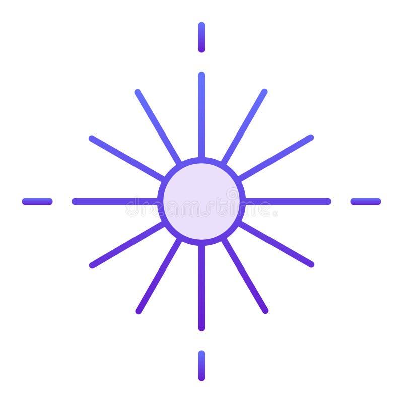 Icono plano de la estrella Iconos violetas de la estrella que brillan intensamente en estilo plano de moda Diseño ligero del esti ilustración del vector