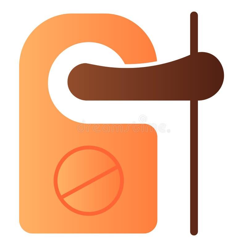 Icono plano de la etiqueta de la alarma No perturbe los iconos del color en estilo plano de moda Diseño del estilo de la pendient ilustración del vector