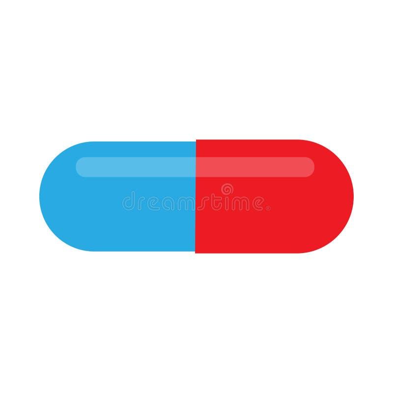 Icono plano de la farmacia de las tabletas médicas del símbolo de la medicina de la enfermedad del cuidado de la píldora imagen de archivo libre de regalías