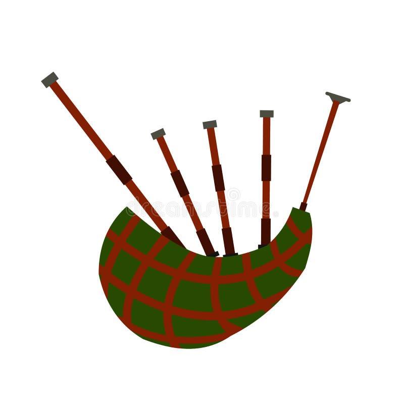 Icono plano de la gaita escocesa libre illustration