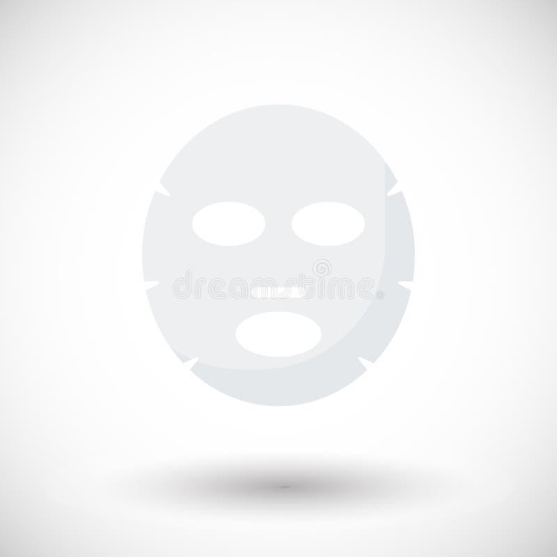 Icono plano de la máscara facial libre illustration