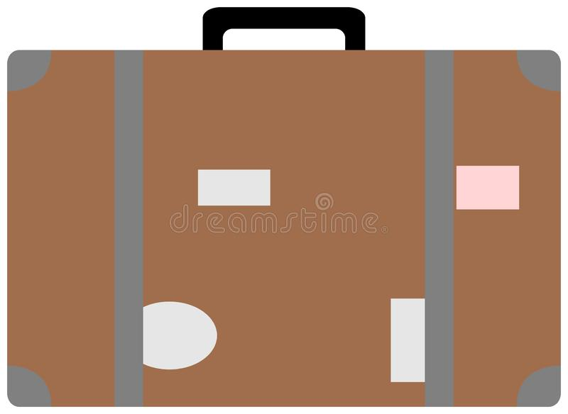 Icono plano de la maleta Ilustraci?n del vector ilustración del vector