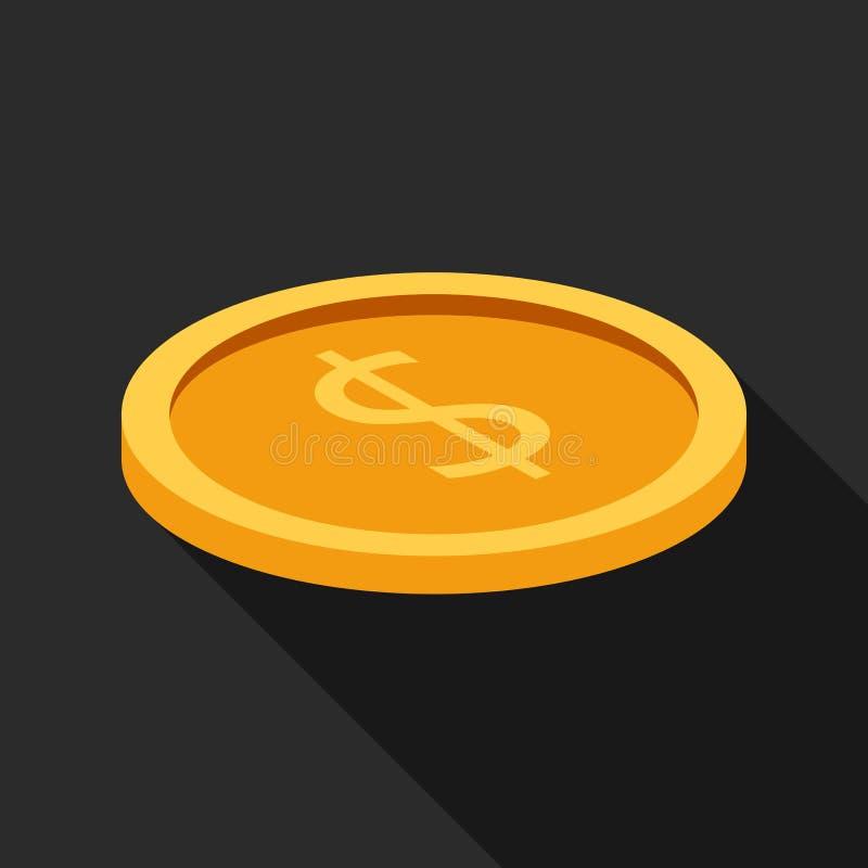 Icono plano de la moneda libre illustration