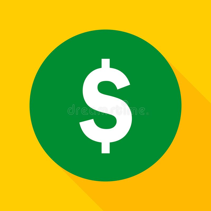 Icono plano de la moneda stock de ilustración