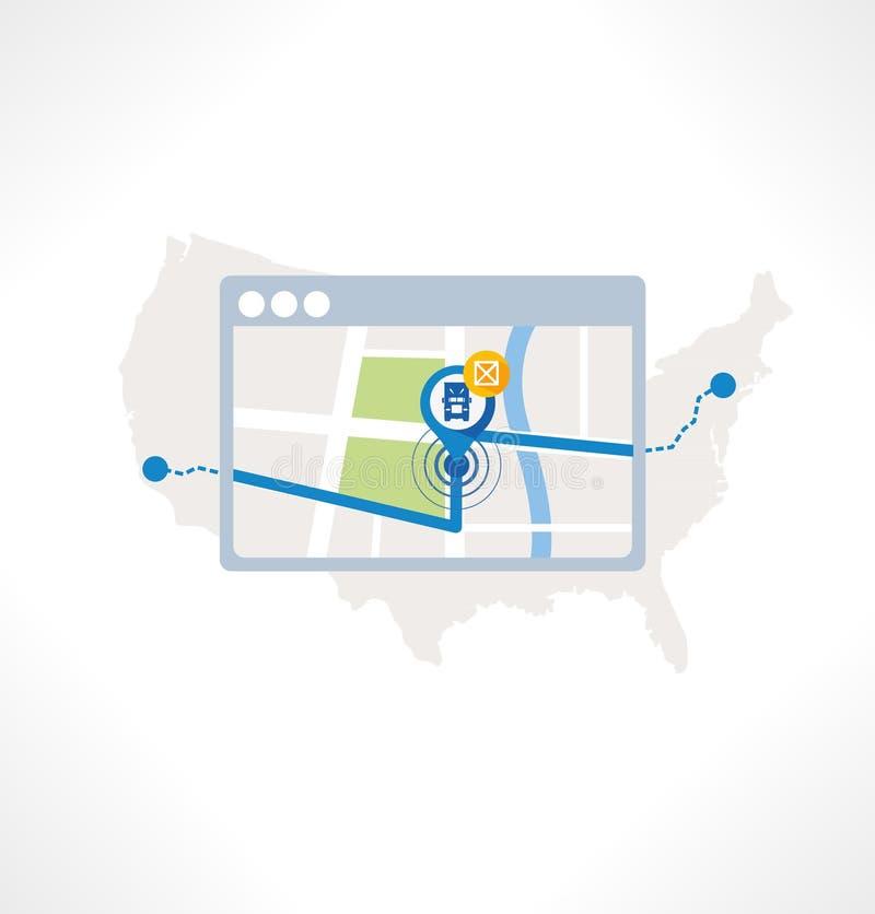 Icono plano de la navegación libre illustration