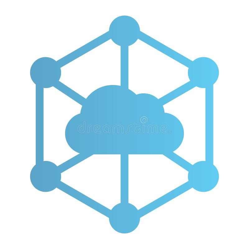 Icono plano de la nube de los datos. Iconos de color para almacenamiento de información en equipos de diseño plano. Diseño de e fotos de archivo libres de regalías