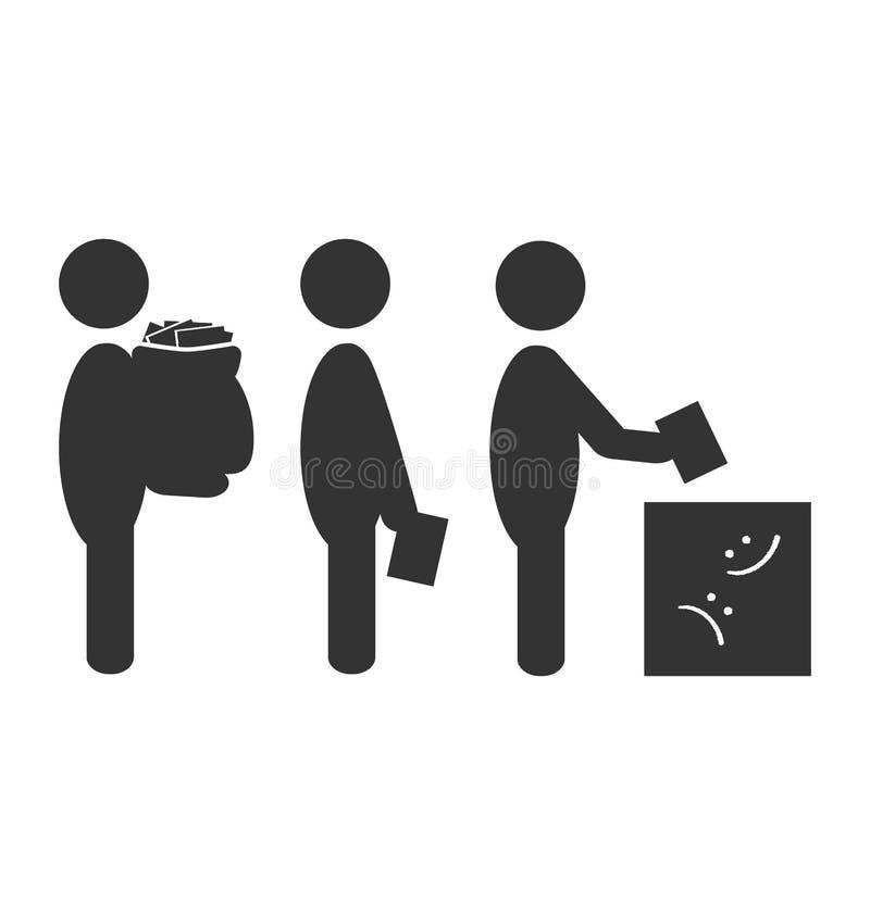 Icono plano de la oferta de la caja aislado en blanco libre illustration