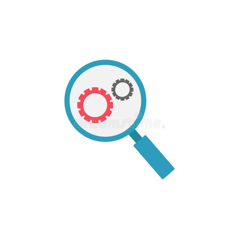 Icono plano de la optimización de la investigación stock de ilustración