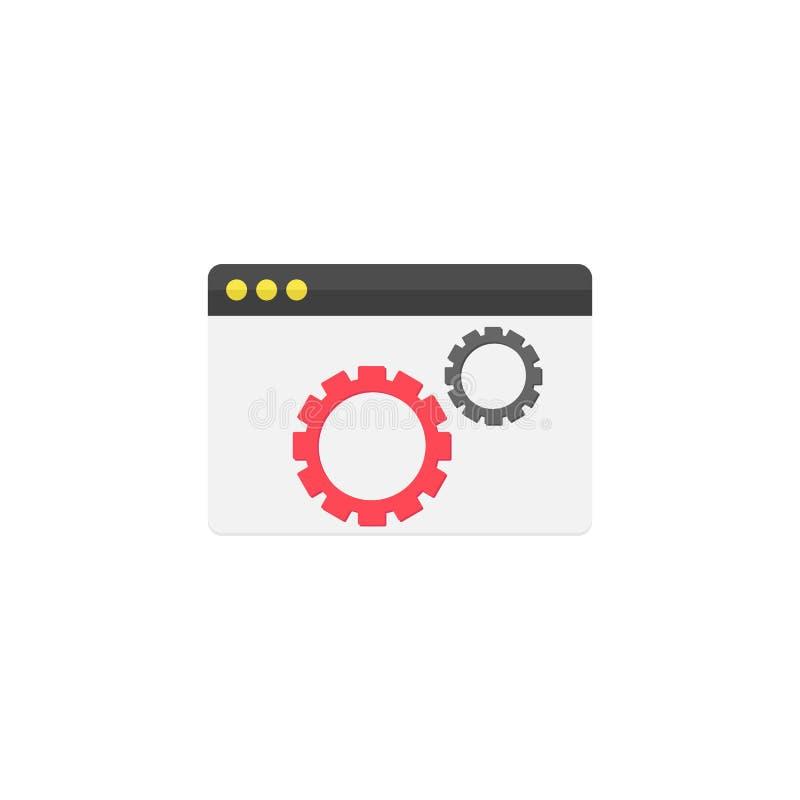 Icono plano de la optimización del sitio web ilustración del vector