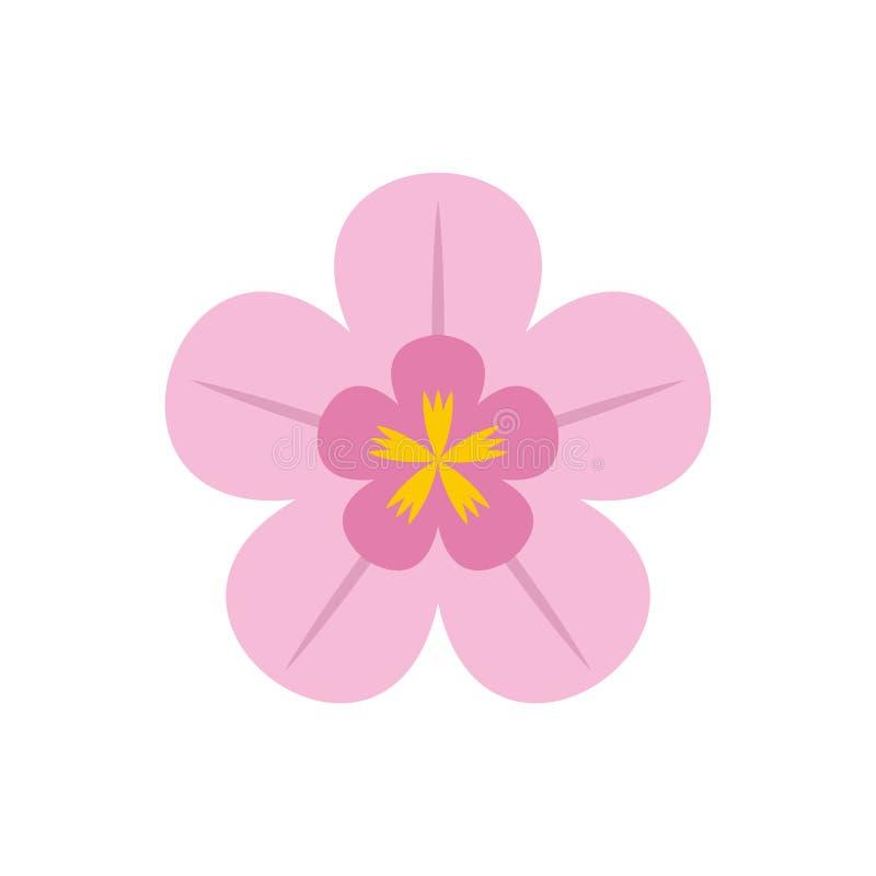 Icono plano de la orquídea ilustración del vector