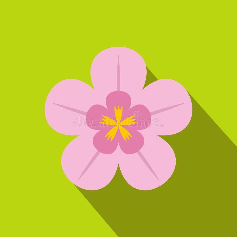 Icono plano de la orquídea stock de ilustración