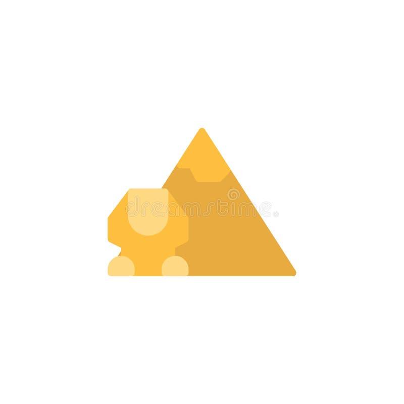 Icono plano de la pirámide egipcia libre illustration