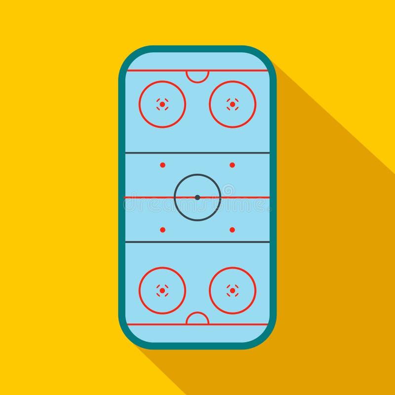 Icono plano de la pista de hockey sobre hielo ilustración del vector
