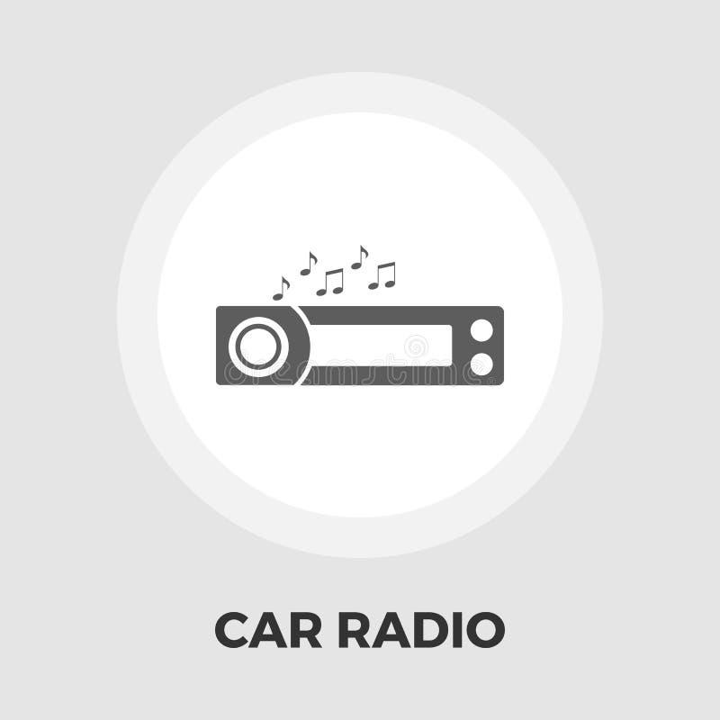 Icono plano de la radio de coche ilustración del vector