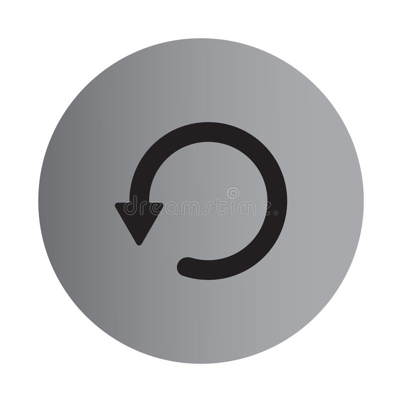 Icono plano de la repetición del color ilustración del vector