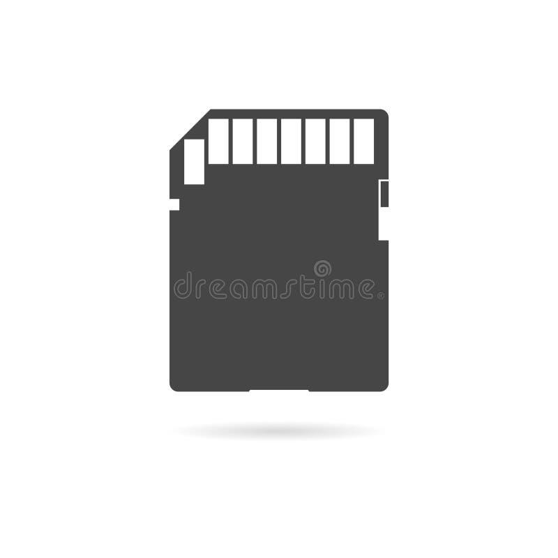 Icono plano de la tarjeta de memoria SD stock de ilustración