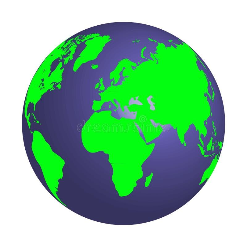 Icono plano de la tierra del planeta Vector el ejemplo para la bandera del web, el web y móvil, infographics Vector imagen de archivo libre de regalías