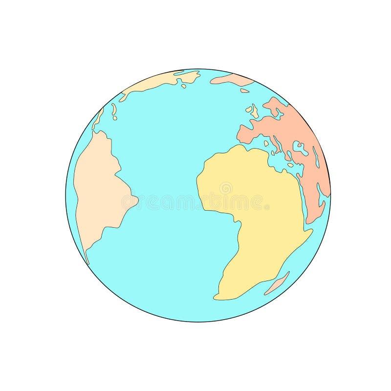 Icono plano de la tierra del planeta Vector el ejemplo para la bandera del web, el web y móvil, infographics ilustración del vector