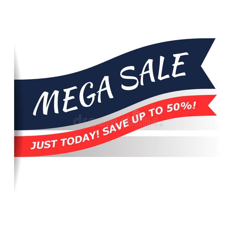 Icono plano de la venta mega stock de ilustración