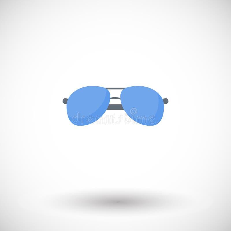 Icono plano de las gafas de sol libre illustration