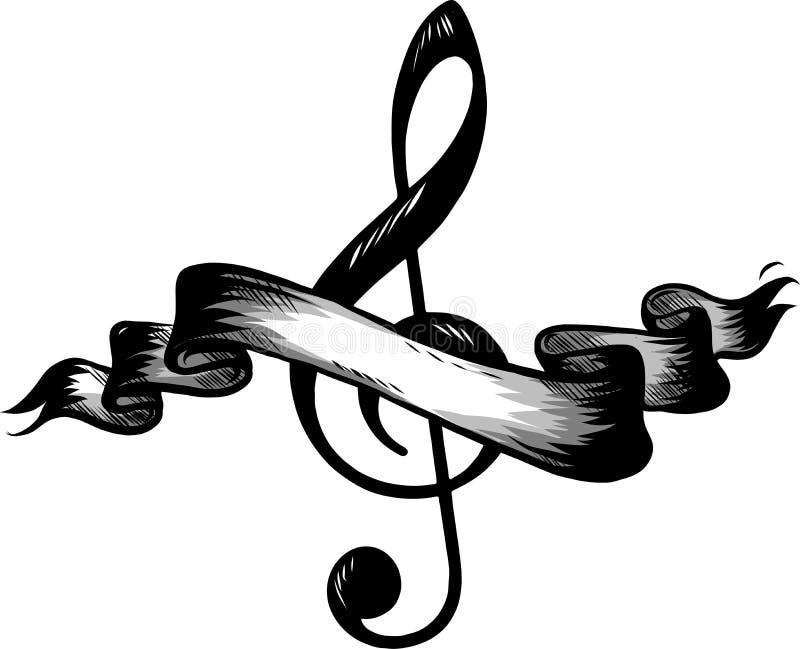 Icono plano de las notas, de la canción, de la melodía o del tono de la música para los apps y los sitios web musicales libre illustration