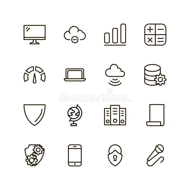 Icono plano de los datos stock de ilustración