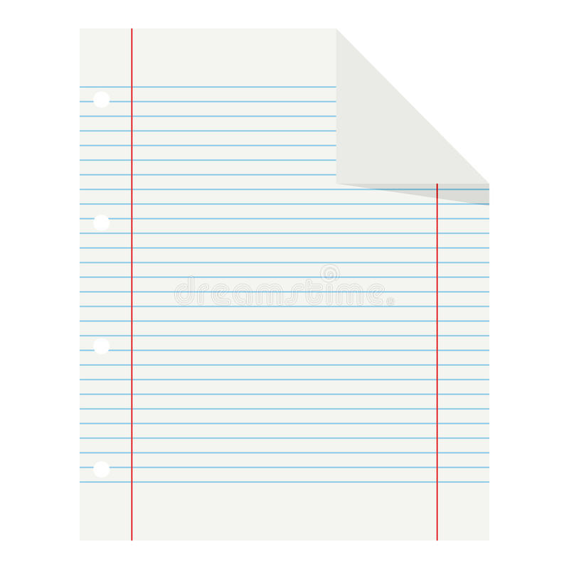 Icono plano de papel alineado escuela en blanco en blanco libre illustration