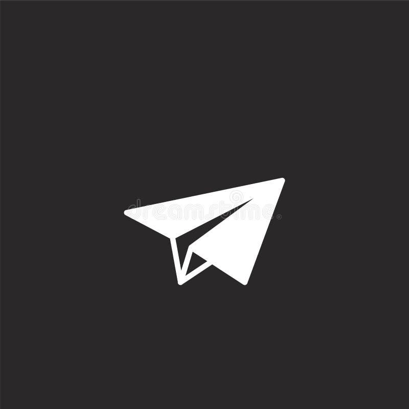 Icono plano de papel Icono plano llenado del papel para el diseño y el móvil, desarrollo de la página web del app icono plano de  stock de ilustración