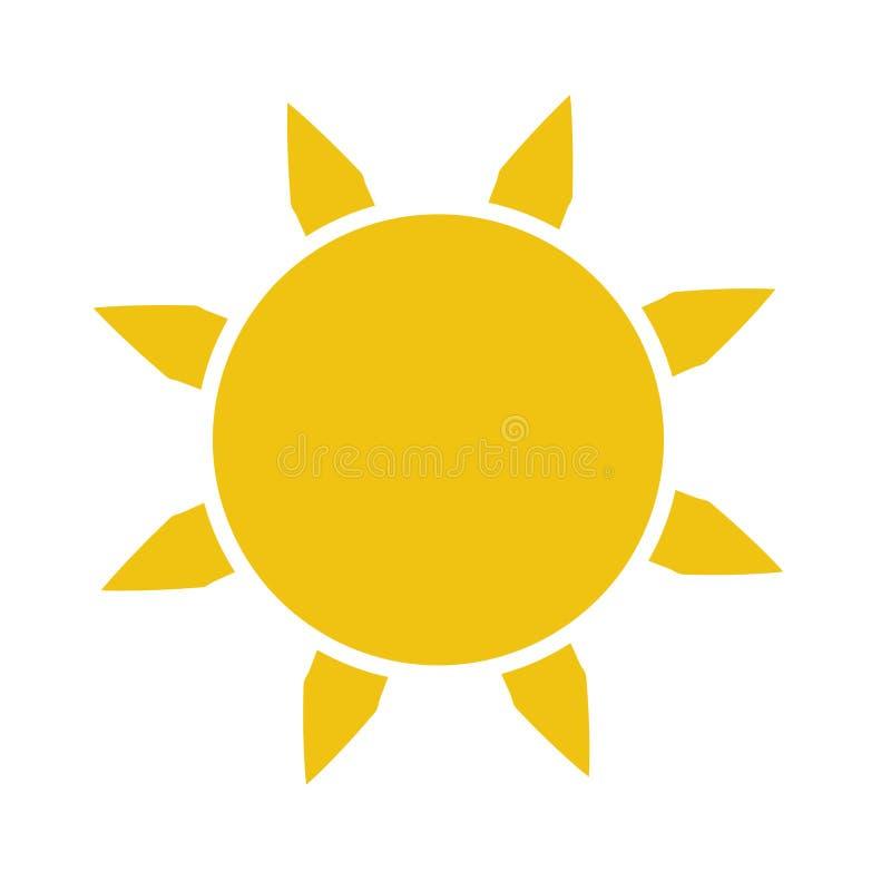 Icono plano de Sun Pictograma de Sun ejemplo del vector de la plantilla libre illustration