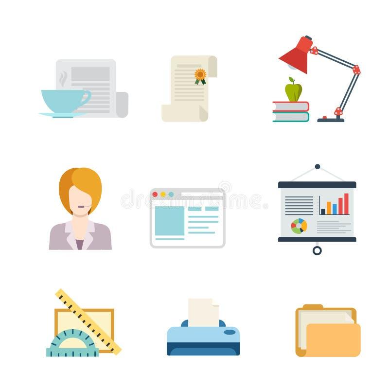 Icono plano del app del web del interfaz del negocio del vector: ayuda del documento ilustración del vector