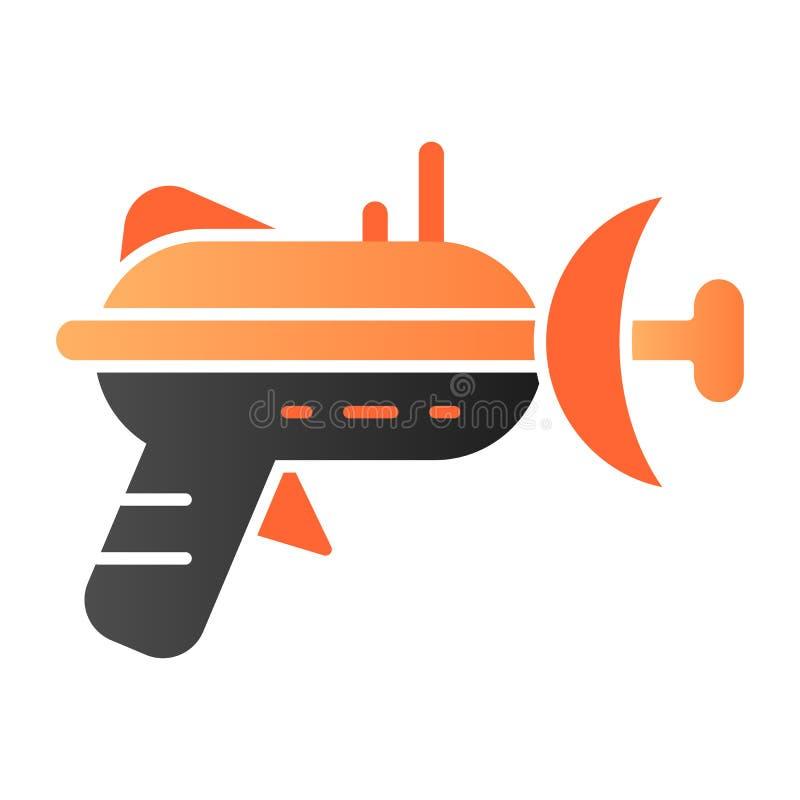 Icono plano del arenador Iconos del color del arma de laser en estilo plano de moda Dise?o del estilo de la pendiente del arma de libre illustration