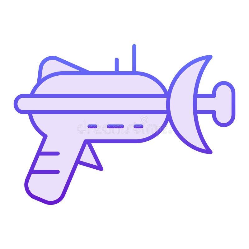 Icono plano del arenador Iconos violetas del arma de laser en estilo plano de moda Diseño del estilo de la pendiente del arma del ilustración del vector