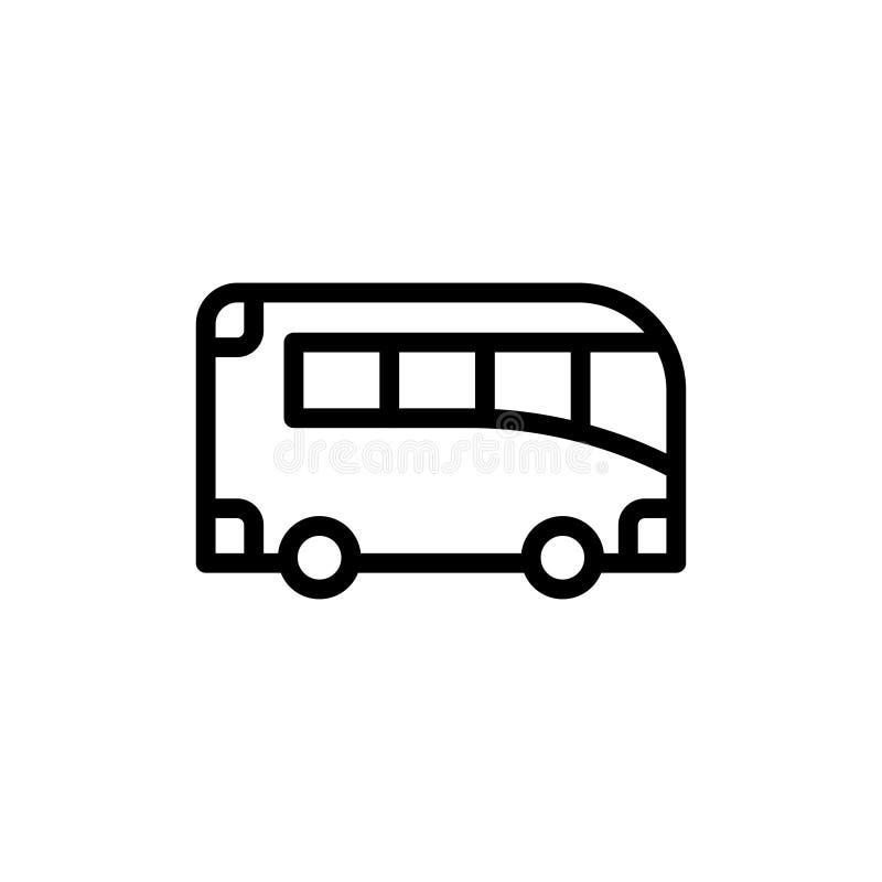 Icono plano del autobús stock de ilustración