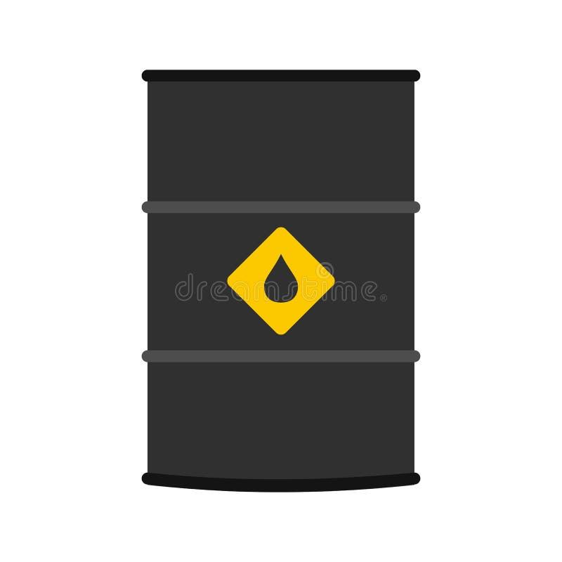 Icono plano del barril de aceite