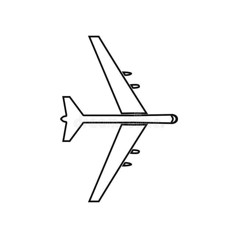 Icono plano del bombardeo Elemento del avi?n del ej?rcito para el concepto y el icono m?viles de los apps de la web Esquema, l?ne libre illustration