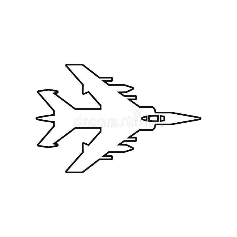Icono plano del bombardeo Elemento del avi?n del ej?rcito para el concepto y el icono m?viles de los apps de la web Esquema, l?ne ilustración del vector