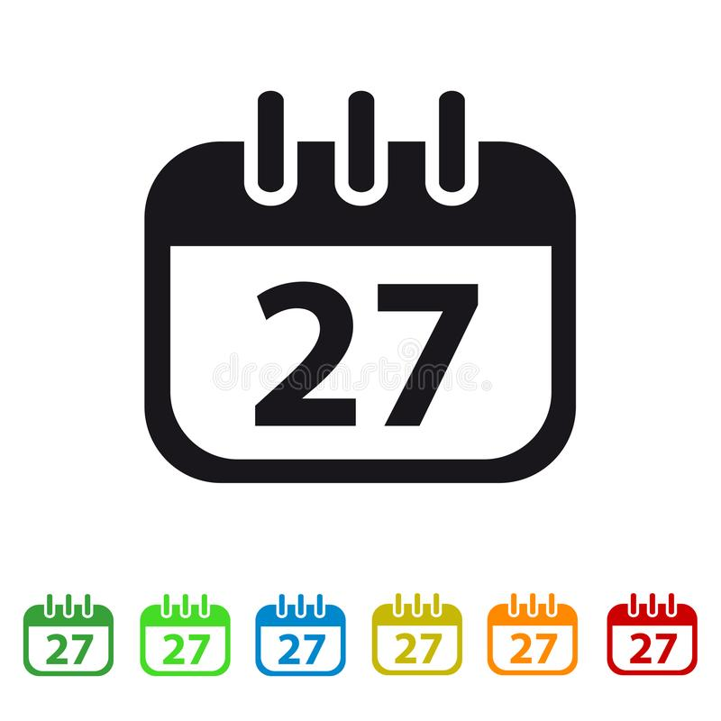 Icono plano del calendario para los apps y los sitios web libre illustration