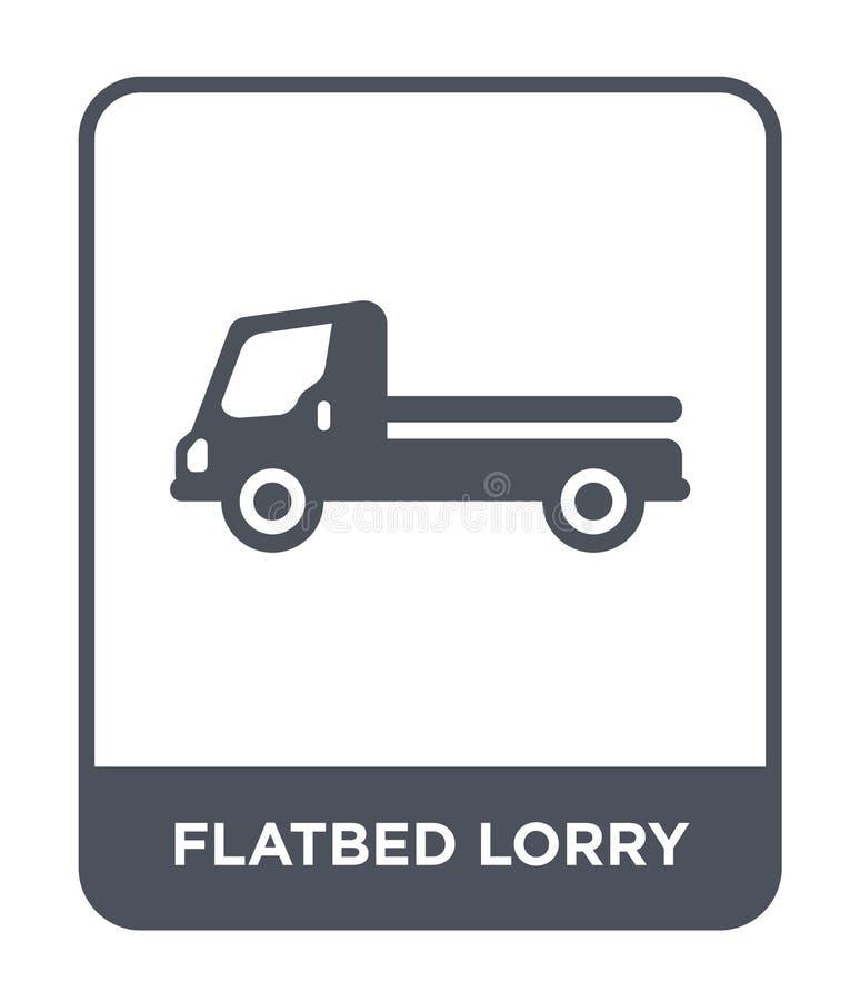 icono plano del camión en estilo de moda del diseño icono plano del camión aislado en el fondo blanco icono plano del vector del  stock de ilustración