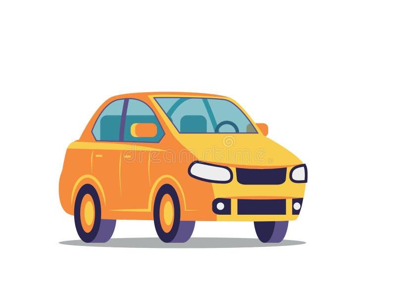 Icono plano del coche stock de ilustración