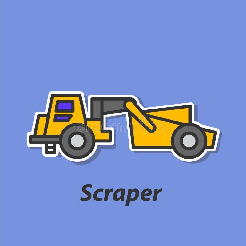 Icono plano del color del raspador libre illustration