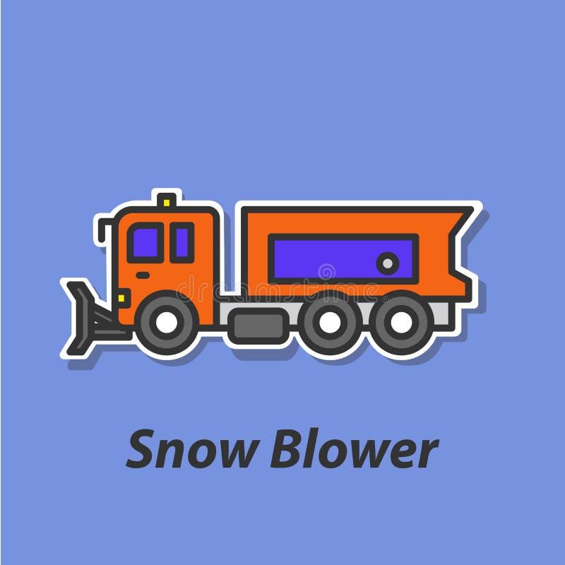 Icono plano del color del ventilador de nieve ilustración del vector