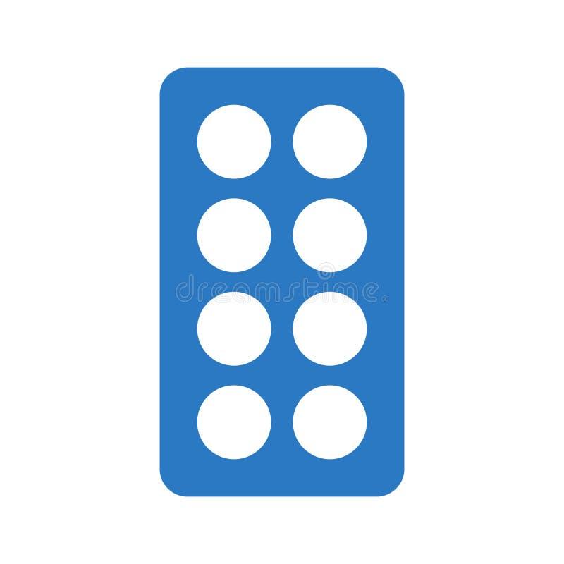 Icono plano del color del glyph de las píldoras libre illustration