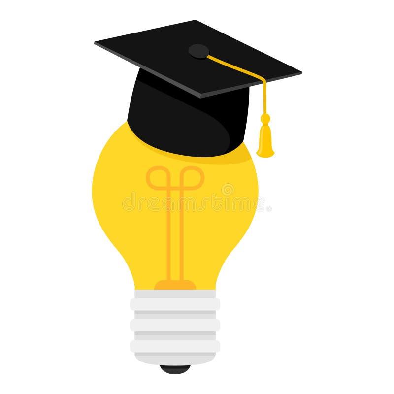 Icono plano del concepto de la gran idea en blanco libre illustration