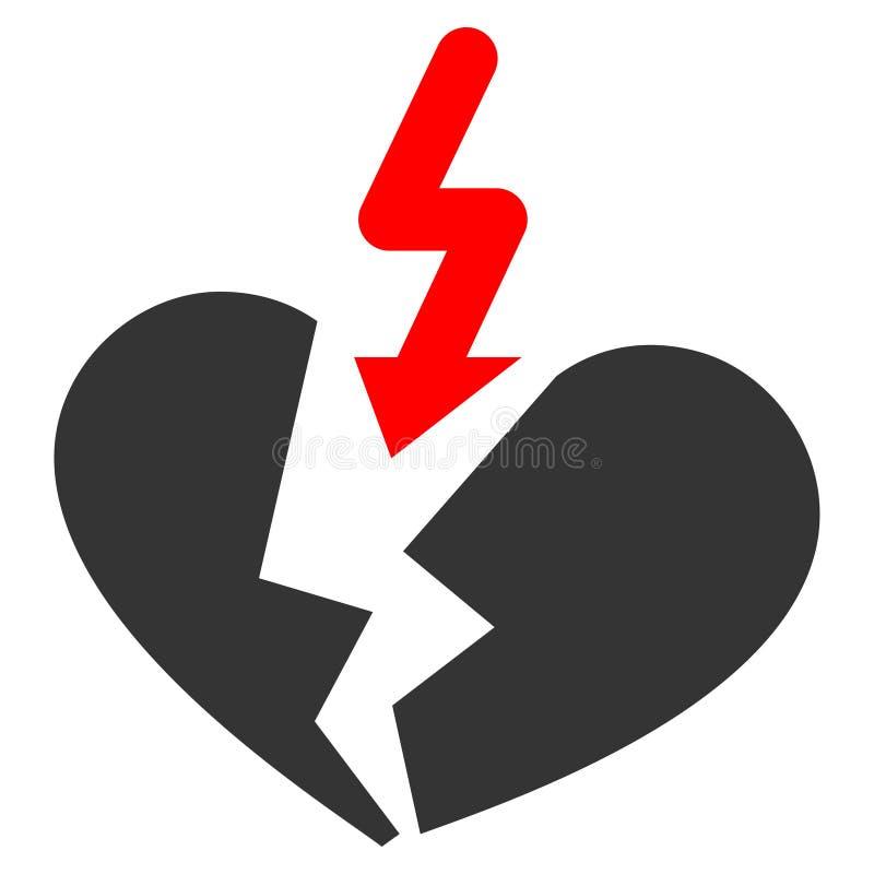 Icono plano del corazón de la desintegración libre illustration
