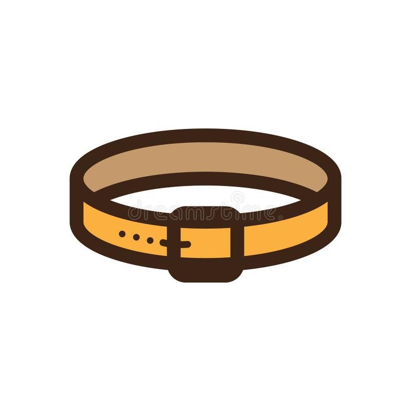 Icono plano del cuello de perro del color stock de ilustración